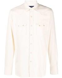 Camisa de manga larga blanca de Lardini