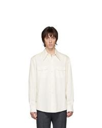 Camisa de manga larga blanca de Lemaire