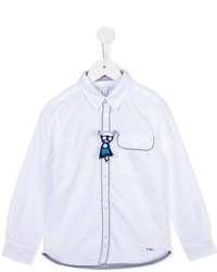 Camisa de manga larga blanca de Little Marc Jacobs