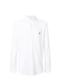Camisa de manga larga blanca de Ralph Lauren
