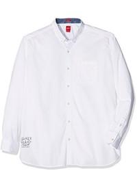 Camisa de manga larga blanca de S.Oliver Big Size