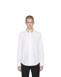 Camisa de manga larga blanca de Versace