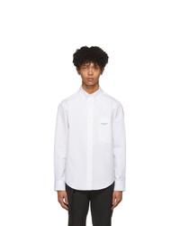 Camisa de manga larga blanca de Wooyoungmi