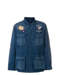 Camisa de manga larga bordada azul marino de Polo Ralph Lauren
