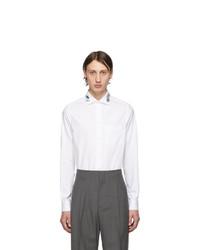 Camisa de manga larga bordada blanca de Gucci