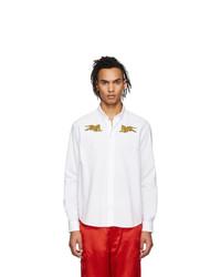 Camisa de manga larga bordada blanca de Kenzo