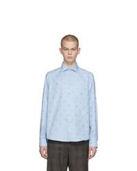 Camisa de manga larga bordada celeste de Gucci