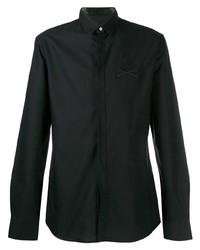 Camisa de manga larga bordada negra de Philipp Plein