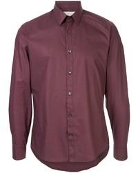 Camisa de manga larga burdeos de Cerruti 1881