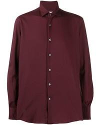 Camisa de manga larga burdeos de Glanshirt