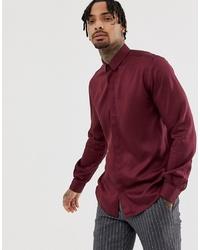 Camisa de manga larga burdeos de Twisted Tailor