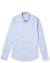 Camisa de manga larga celeste original 2899599