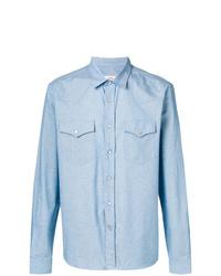 Camisa de manga larga celeste de AMI Alexandre Mattiussi