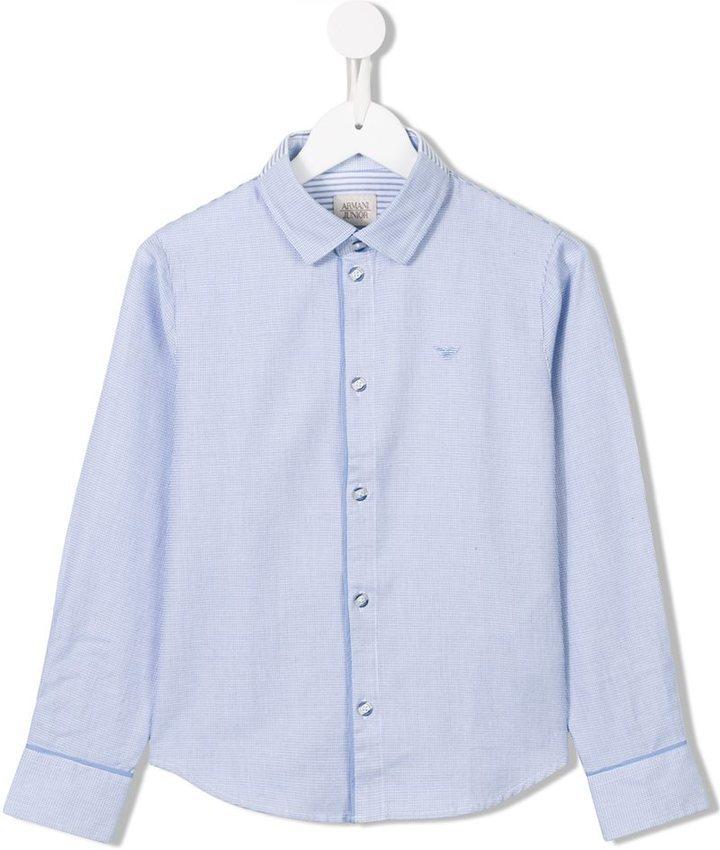 Camisa de Manga Larga Celeste de Armani Junior
