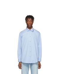 Camisa de manga larga celeste de Balenciaga