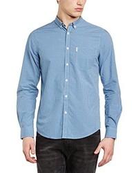 Camisa de manga larga celeste de Ben Sherman