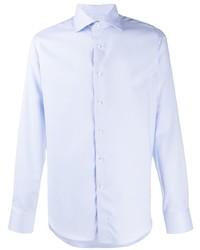 Camisa de manga larga celeste de Canali