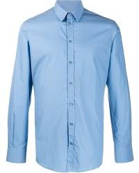 Camisa de manga larga celeste de Dolce & Gabbana