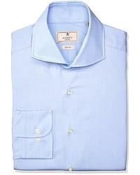 Camisa de manga larga celeste de Hackett London