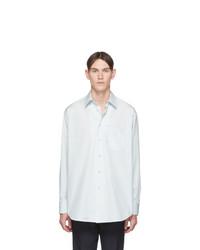 Camisa de manga larga celeste de Jil Sander