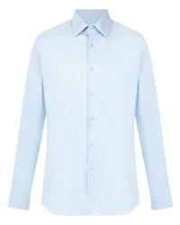 Camisa de manga larga celeste de Prada