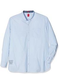 Camisa de manga larga celeste de S.Oliver Big Size