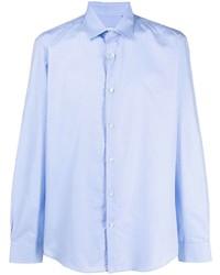 Camisa de manga larga celeste de Salvatore Ferragamo