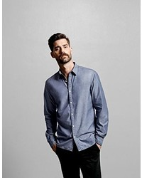 Camisa de manga larga celeste de Selected Homme