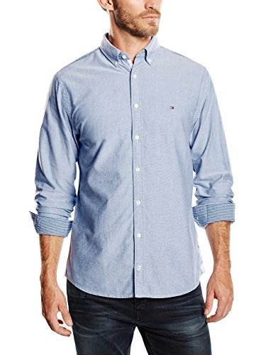 Camisa de manga larga celeste de Tommy Hilfiger