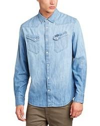 Camisa de manga larga celeste de Wrangler