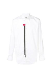 Camisa de manga larga con adornos blanca de DSQUARED2