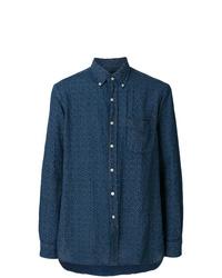 Camisa de manga larga con print de flores azul marino de Polo Ralph Lauren