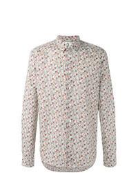 Camisa de manga larga con print de flores en multicolor