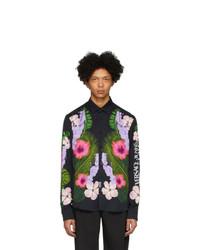 Camisa de manga larga con print de flores en multicolor de VERSACE JEANS COUTURE