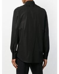 Camisa de manga larga con volante negra de DSQUARED2