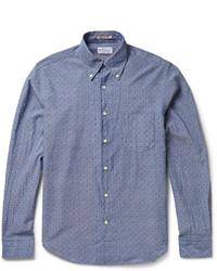 Camisa de manga larga de cambray a lunares azul de Gant