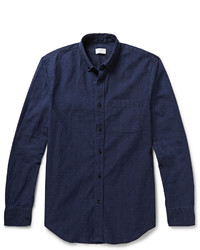Camisa de manga larga de cambray azul marino de Club Monaco