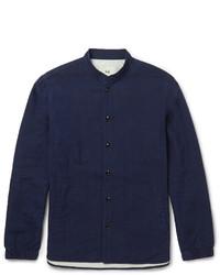 Camisa de manga larga de cambray azul marino de Folk