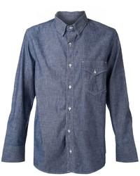 Camisa de manga larga de cambray azul marino de Rag and Bone