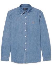 Camisa de Manga Larga de Cambray Azul de Polo Ralph Lauren