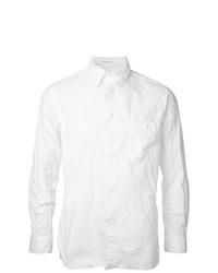 Camisa de manga larga de cambray blanca de orSlow