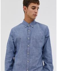 Camisa de manga larga de cambray celeste de J.Crew Mercantile