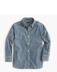 Camisa de manga larga de cambray