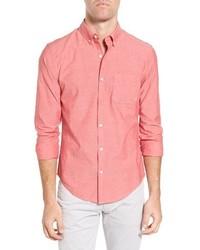 Camisa de manga larga de cambray roja