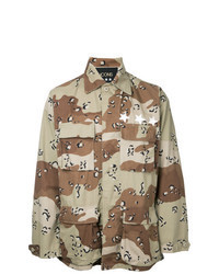 Camisa de manga larga de camuflaje marrón claro