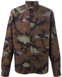Camisa de manga larga de camuflaje marrón