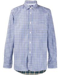 Camisa de manga larga de cuadro vichy azul de Junya Watanabe MAN