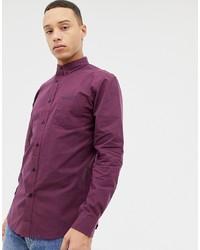 Camisa de manga larga de cuadro vichy burdeos de Ben Sherman
