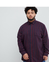 Camisa de manga larga de cuadro vichy burdeos de Jack & Jones