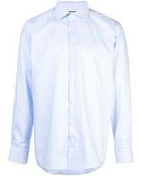 Camisa de manga larga de cuadro vichy celeste de Eton